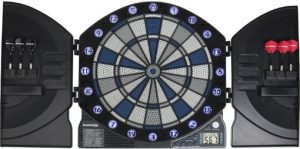 Bullshooter by Arachnid Illuminator 3.0 Electronic Dartboard and Cabinet